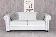 sofa weiss chesterfield sofa weiss clubsofa couch eco leder