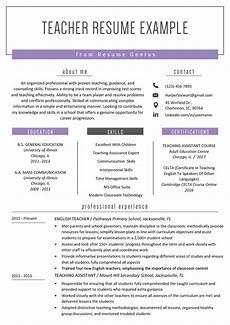 resume format in teaching teacher resume sles writing guide resume genius