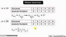 median 0 5 quantil berechnen mit absoluten h 228 ufigkeiten