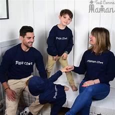 parents et enfants assortis sweat famille chat tout