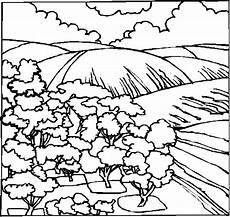 Malvorlagen Landschaften Gratis Tari Baeume Neben Einer Weide Ausmalbild Malvorlage