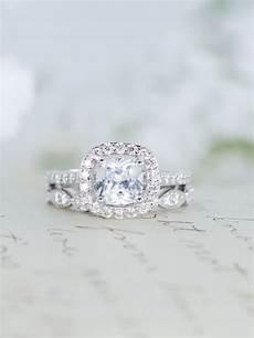halo wedding engagement ring wedding ring cushion