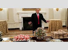 what does president trump eat