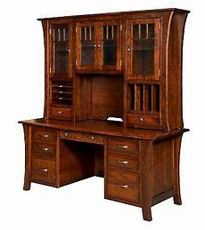 home office wood furniture 73 quot amish executive computer file desk hutch home office