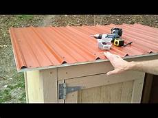 11 installing shed metal roofing how to build a generator enclosure wmv youtube