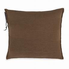 schlafzimmer joly joly kissen 50x50 tobacco modernes strickkissen knit