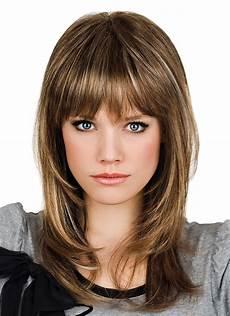 human hair medium length capless wigs with full bangs
