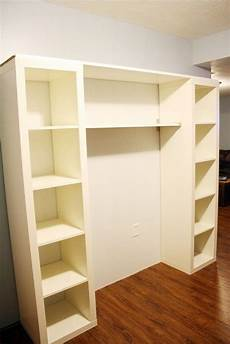 2 Ikea Lack Bookshelves Attached By Shelving For A Stand
