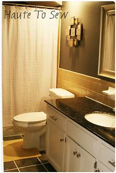 grey yellow bathroom remodelaholic bathroom makeover yellow gray color scheme
