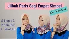 Model Jilbab Segi Empat Sederhana Voal Motif