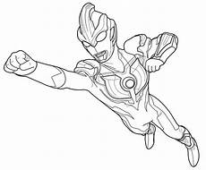 Ultraman Ginga Flying Coloring Page For