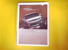 car repair manuals download 2003 lincoln ls windshield wipe control ls 03 2003 lincoln owners owner s manual genuine factory oem ebay