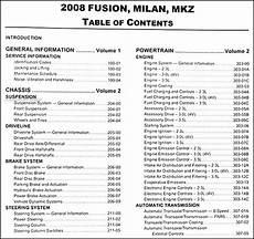 motor repair manual 2008 ford fusion auto manual 2008 fusion milan mkz repair shop manual 2 volume set original