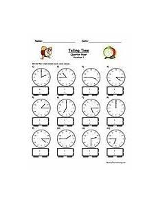 time worksheet quarter to 3155 telling time worksheet to the quarter hour math worksheets 1st grade math worksheets math