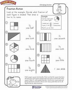 fraction action 2nd grade math worksheets jumpstart
