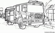Ausmalbilder Lkw Scania Malvorlagen Feuer Lkw Scania