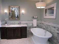 blue and brown bathroom decor paint colors with grey tile
