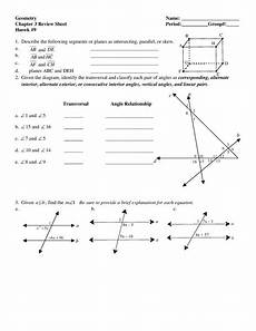 geometry revision worksheets 871 geometry chapter 3 review sheet worksheet for 7th 10th grade lesson planet