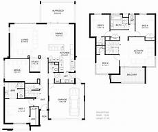 minimalist house plans floor plans pictures of 2 storey modern minimalist house plan 4 home