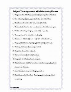 subject verb agreement intervening phrases subject