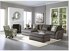 Oasis Grey 2 PC Sectional   American Signature Furniture