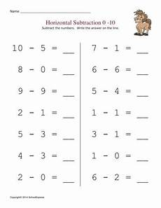 addition worksheets horizontal form 8882 free math worksheets subtraction differences 0 10 horizontal 19 000 free worksheets