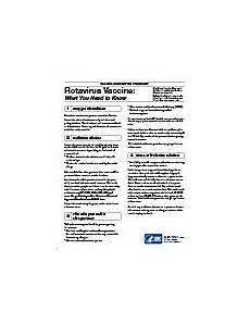 vaccine information statement rotavirus vis cdc