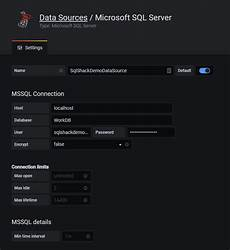 grafana database overview of the grafana dashboard with sql