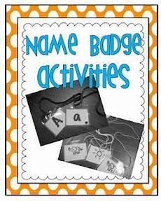 worksheets for kindergarten in 18604 minds at work freebie name badge activities kindergarten teachers teaching
