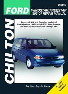 chilton car manuals free download 2007 mercury monterey lane departure warning ford windstar freestar mercury monterey chilton repair manual 1995 2007 hay26840