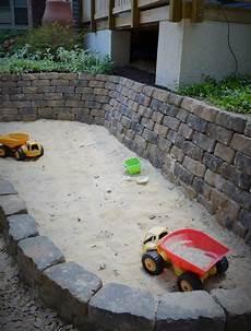 diy steine sandkasten bauen sandkasten garten