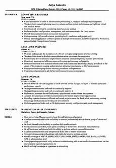 linux engineer resume sles velvet