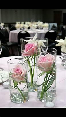 single flowers in vases in 2020 wedding table