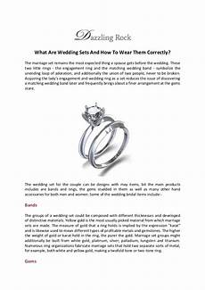 what are wedding sets and how to wear them correctly