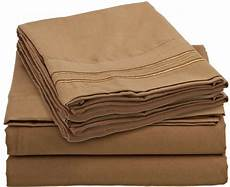 1500tc 4 piece bed sheet mocha brown color full queen king deep pocket ebay