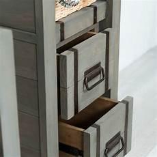colonne de en bois colonne de salle de bain loft en bois et m 233 tal 190 cm gris