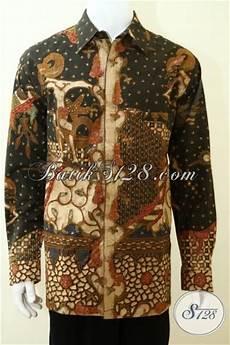 kemeja batik wayang proses tulis full furing mewah pakaian batik tradisional jawa memabuta pria