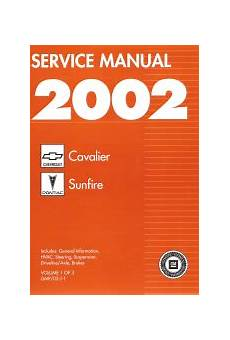 auto repair manual online 1999 pontiac sunfire head up display 2002 chevy cavalier and pontiac sunfire factory service manual