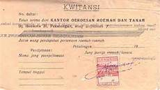 dokumen djadoel kwitansi kantor oeroesan roemah dan tanah