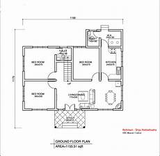 simple house plans in kerala simple kerala style home design at 1155 sq ft