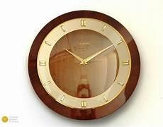 superb junghans mid century wall clock 50s modern