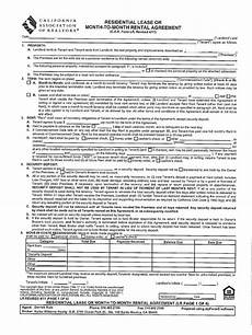 residential lease c a r form