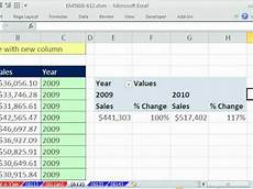excel magic trick 612 pivot table year year sales