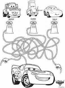 Malvorlagen Mc Pdf Disney Cars Maze Coloring Page Crayola