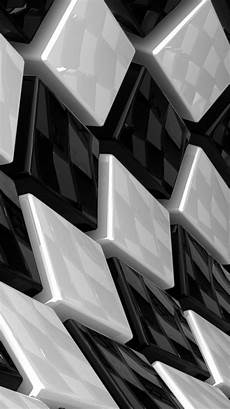 Iphone Xs Max Geometric Wallpaper by Artistic 3d Cubes White And Black Iphone Background For