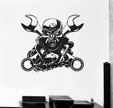 Sticker Garage by Wall Decal Engine For Car Mechanic Garage Decor Skull