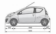 Peugeot 107 Technische Daten - peugeot 107 betriebsanleitung fahrzeugabmessungen