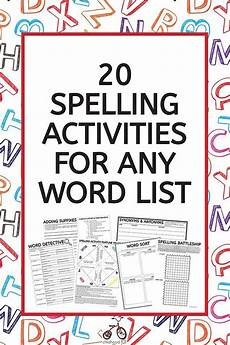 spelling worksheets for any list free 22316 spelling activities worksheet pack use with any spelling list low prep spelling word