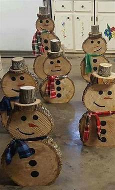 Basteln Weihnachten Holz - wooden snowmen no directions for the home chris