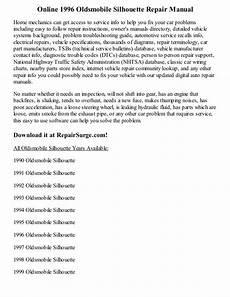 online car repair manuals free 1996 oldsmobile silhouette engine control 1996 oldsmobile silhouette repair manual online
